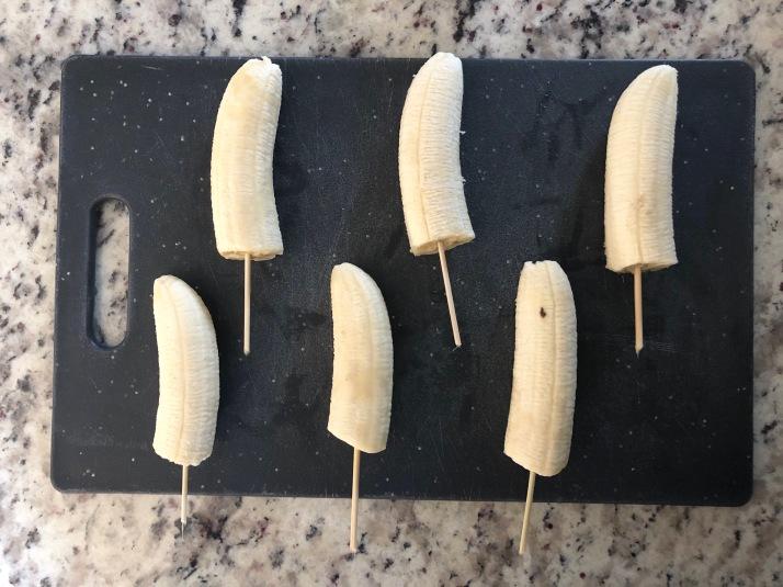 bananas on skewers